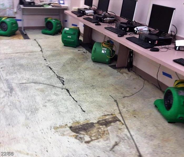 Water Damage at Local Library Before